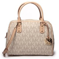 Michael Kors Signature PVC Satchel Hand Bag