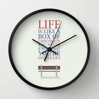 Forrest Gump Movies Wall Clock by Lab No. 4 | Society6