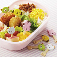 Cute Animal Cupcake Topper & Food Decoration Forks - Mama's Assist by Torune Japan Bento