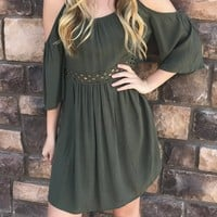 Simply Sweet Cold Shoulder Dress