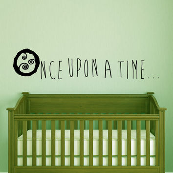 Once upon a time nursery wall decal quote