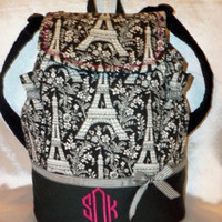 Designs by Keri Boutique Eiffel Tower back pack 3 colors to choose from tote all ages