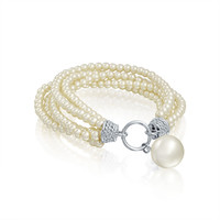 Bling Jewelry Pearl Twist Bracelet