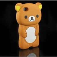SODIAL(TM) 3D Brown Rilakkuma Bear Hard Case Cover for iPhone 4 4S 4G
