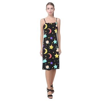 Moon Stars Slip Dress