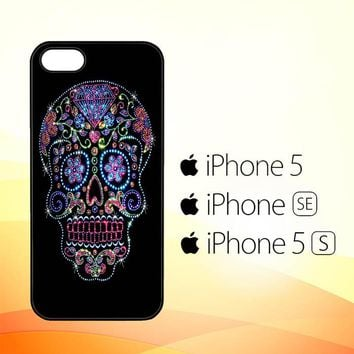 SUGAR SKULL CROW HONEY BIRD FLOWER V1723  iPhone 5|5S|SE Case