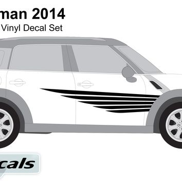 Mini Countryman 2014 Winged Lines Graphics Vinyl Decal Set