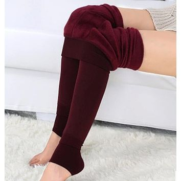 High Quality Womens Plus Velvet Warm Tights Sexy Ladies Spandex Pantyhose Autumn Winter Soft Thick Stovepipe Tights