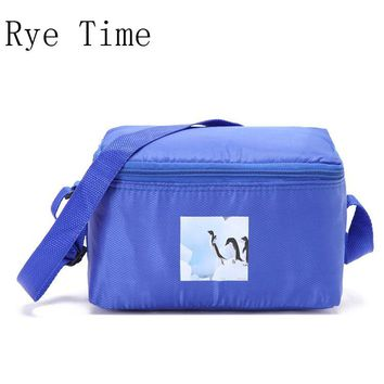 2017 new branded thermal colored small picnic cooler lunch bag insulated cool shoulder bags ice pack thermo lunch box food bags