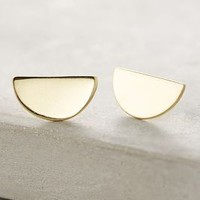 ACB by Annie Costello Brown Semicircle Earrings in Gold Size: One Size Earrings
