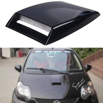 Black/Silver/White Universal Car Stickers Car decorative Air Flow Intake Scoop Turbo Bonnet Vent Cover hood decorate