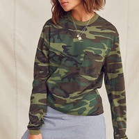Vintage Camo Long Sleeve Tee | Urban Outfitters