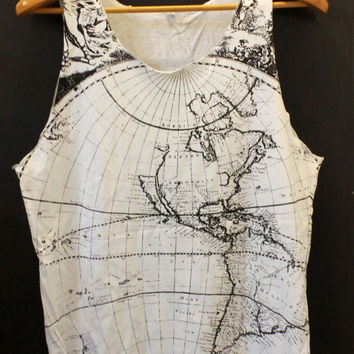 World Map Tanktop Earth shirt