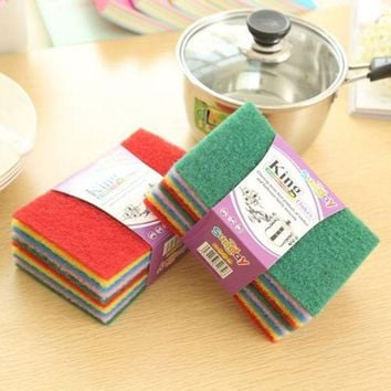 DCCKL72 10PC Magic Sponge Eraser Cleaning Towel Cloth Kitchen Dish Foam Pads Cleaner Hot #587