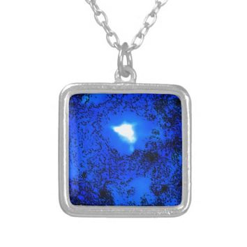 lapis lazuli silver plated necklace