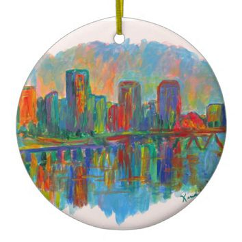 Richmond on the James Ceramic Ornament