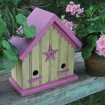 Romantic French Country Birdhouse Home n Garden by baconsquarefarm