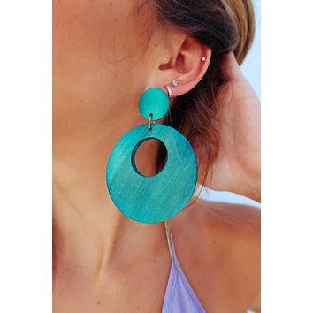 Take All The Time Earrings: Teal