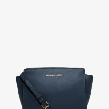 Selma Medium Saffiano Leather Messenger | Michael Kors