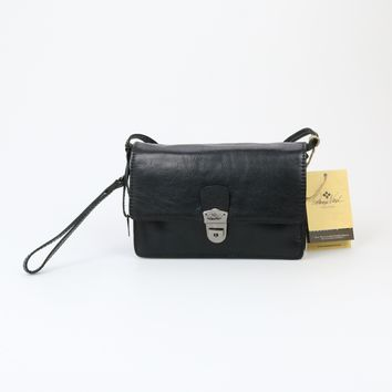 Patricia Nash Lanza Black Leather Cross Body