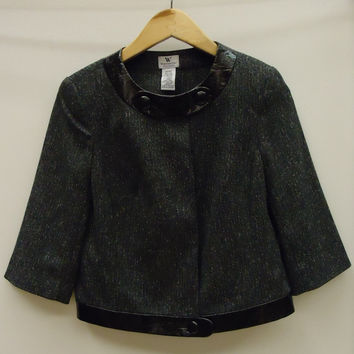 Worthington Coat Polyester Female Adult Petite Stretch Gray/Black Tweed 050912-972w -- New with Tags