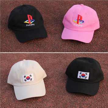 New Pretty boy Korean flag baseball cap summer fashion golf hat sun hat for men women hip hop hat