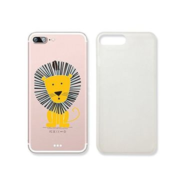 Cute Lion Clear Transparent Plastic Phone Case for iphone 7_ SUPERTRAMPshop (iphone 7)
