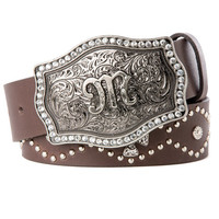 Cross Conchos Studded Belt