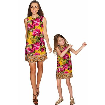 Indian Summer Adele Shift Party Mother Daughter Dress