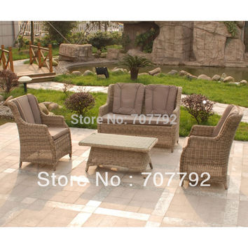 Rattan Sofa Set With 2 Rufford Glider Chairs and Sofa