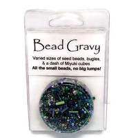 Blueberry Lime Bead Gravy All Glass Seed Beads, No Lumps by Hofmann Originals