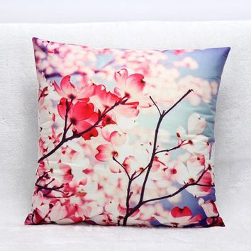 3D Flower Print Sofa Bed Home Decoration Festival Pillow Case Cushion Cover
