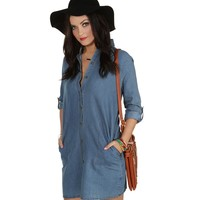 Promo- The Kiss Tomorrow Goodbye Denim Tunic