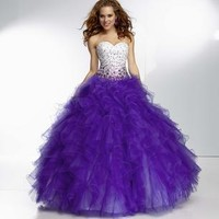 Prom Dresses 2014 - Paparazzi Prom by Mori Lee 95119 Ruffle Ball Gown