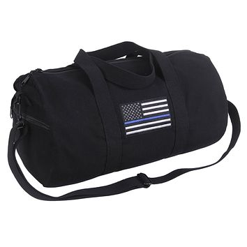 Rothco Thin Blue Line Canvas Shoulder Duffle Bag