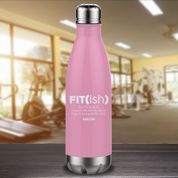 Fitish Laser Etched Water Bottle