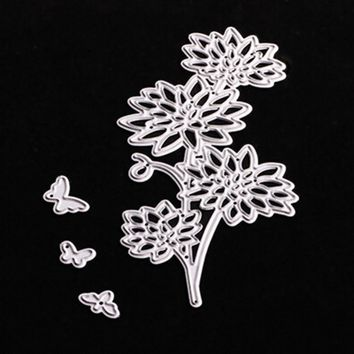 54*100mm scrapbooking DIY 4pcs daisy flower Shape Metal steel cutting die flower Shape Book photo album art card Dies Cut