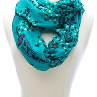 Aztec Print Infinity Scarf by Charlotte Russe