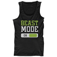 Beast Mode Men's Workout Tanktop Work Out Tank Top Fitness Clothe Gym Shirt