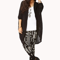 FOREVER 21 Globetrotter Leggings Black/Cream