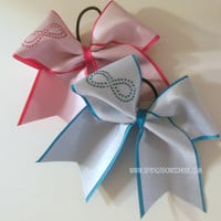 Infinity Large Cheer Bow Hair Bow Cheerleading by SparkleBowsCheer