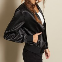 The Sateen Bomber Jacket