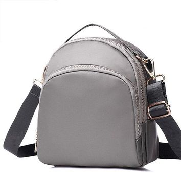 Women Nylon Waterproof Three Layers Crossbody Bag Shoulder Bags Backpack