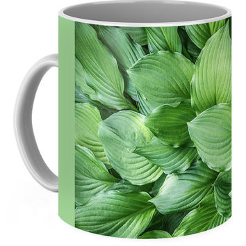 Beautiful Green Arc-shaped Leaves Coffee Mug
