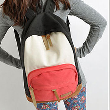 2015 New Womans PU leather Backpacks Satchel Book Bags Rucksack Knapsack 2Colors