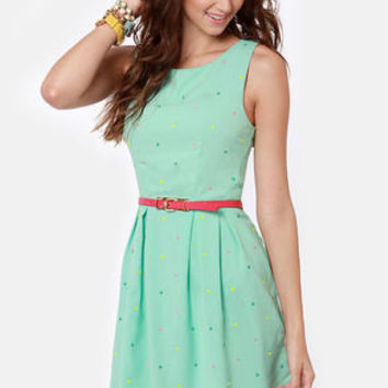 Candy Rain Mint Green Dress