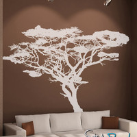 Vinyl Wall Decal Sticker Safari Tall Tree #OS_AA104T