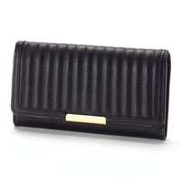 Apt. 9 Quilted Bar Flap Clutch Wallet