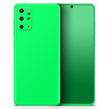 Solid Green V2 - Skin-Kit for the Samsung Galaxy S-Series S20, S20 Plus, S20 Ultra , S10 & others (All Galaxy Devices Available)