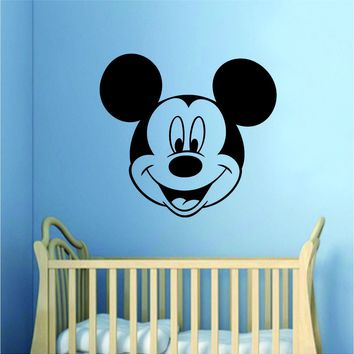 Mickey Mouse Wall Decal Home Decor Bedroom Room Vinyl Sticker Art Baby Nursery Playroom Kids Cartoon Disney